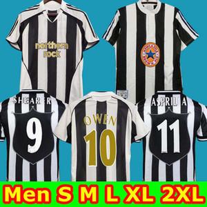 Top Quality 1995 1996 1997 1998 SHEARER 9 camiseta de fútbol Asprilla 11 Retro maglia da calcio a casa 2005 2006 Retro OWEN 10 maillot de foot