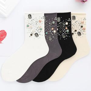 botas cortas planas de color sólido de las nuevas 8oRfm otoño e invierno calcetines de las mujeres de cerámica | Con diamantes incrustados de diamantes caliente como el diamante de cerámica | Mediados-tu