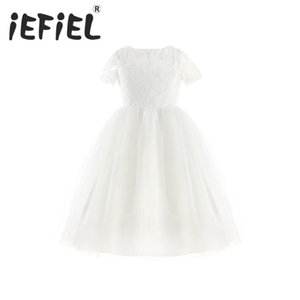 2-14Y Girls Flower Dress First Communion Dresses Kids Pageant Party Wedding Bridesmaid Ball Gown Prom Princess Formal Dress T200709