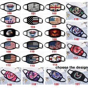 Maske Amerika-Flaggen-Shark Masken Tarnung Hip Hop-Maske Gesicht Mund erwachsene Kinder Baumwolle Masken Resuable Mask DHL schnelles Verschiffen
