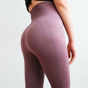 Sexcer super Gym Stretchy Collants énergie transparente Tummy Yoga Contrôle Pantalon taille haute Sport Leggings Violet Courir Pantalons Femmes
