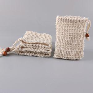Jabón bolsa de malla bolsa de ahorro bolsas sostenedor para la ducha del baño que hace espuma hecha a mano del WC bolsas de jabón de ducha Material T2I51175