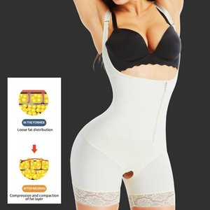 VIP link Aiconl Women Body Shaper Bodysuit Latex Shapewear Butt Lifter Tummy Control Waist Shaping Slimming Underwear Y200710