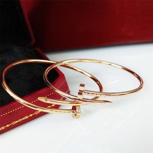 Bahar 2020 yeni S925 18K altın altın vida bilezik Moda öğesi ince baskı bilezik gül gümüş