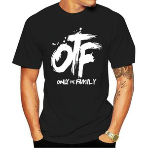 Men Black T-Shirts Fashion Adult Tees Cotton Tops O-neck with Lil Durk Pattern Printed