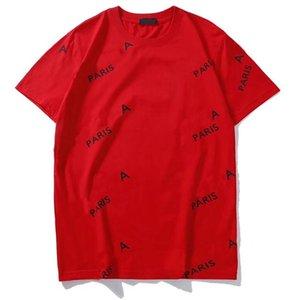여름 19SS 편지 인쇄 디자인 T 셔츠 남성 여성 커플 패션 옴므 티 캐주얼 의류 꽃 통기성 S-2XL (6 개) 스타일