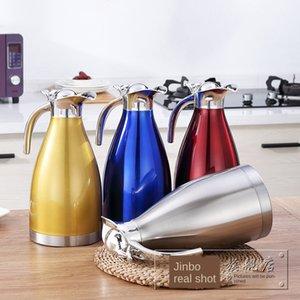 Jinbole europeos de acero inoxidable de café del café del pote 2.0L botella termo regalo restaurante botella termo