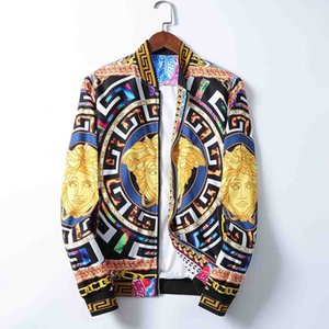 2020 Brand Designer Fashion Men's medusa Jacket Windbreaker Long Sleeve Men's Jacket Zipper Animal Letter Pattern Casual Men's M-3XL pq0