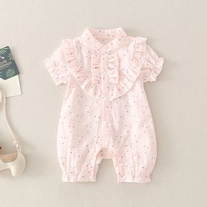 2020 new baby Siamese Romper short-sleeved summer dress sweet newborn baby girl climbing clothes out of thin models