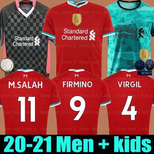 20 21 aglia da calcio LVP Liverpool Mohamed M. Salah 2020 2021 maglia da calcio VIRGIL MANE FIRMINO KEITA MILNER SHAQIRI ORIGI portiere uomo + kit per bambini