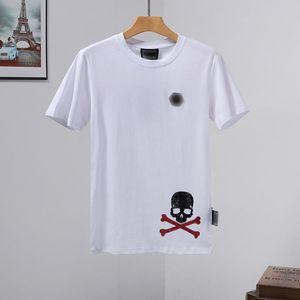 Tees stampa maglietta mens progettista magliette Mens Skull T-shirt di alta qualità tripler la collana triplice s pp yy69 Phillip pianura Phillip Plain