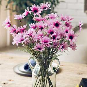 Artificial Dasiy Flowers Silk Fake Flowers Decorative Stamen Small Daisy for Wedding Holding Flowers Home Decoration YSY97