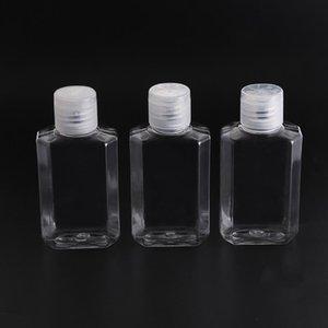 Fábrica del punto 60 ml botella transparente octogonal desinfectante de manos libres Botella del gel de la aleta Botella Sub-embalaje de plástico