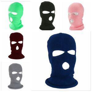 Masken 2-Loch 3-Loch Vollgesichtsmaske csgo gestrickte Kopfbedeckungen Winter-warme Krieger Vollkopfbedeckungen Winddichtes volle Gesichts-Abdeckungs-Party Mask LSK565