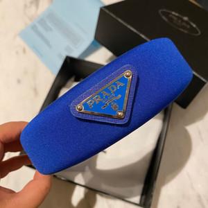 2020 P tasarımcı kafa bantları orijinal kutusu ile hediye şık çocuklar turuncu lüks moda saç bantları için mavi kadın saç bantlarında saç bandı kırmızı