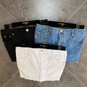 WOMENGAGA 2020 novo sólido DStretch Denim Skirt Sexy Mini botão da forma -Edge Feminino Streetwear B418