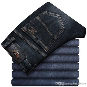 The 2019 new collection of men's suede and thick warm jeans features men's versatile trousers