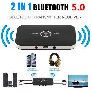 Обновление B6 Bluetooth 5,0 передатчик приемник беспроводной аудио адаптер для PC TV наушников Автомобильный 3,5 3,5 AUX Music Receiver Sender