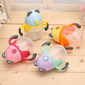 유아 실리카 젤 250ML 귀여운 아기 컵 키즈 어린이 식수 핸들 병 훈련 컵 아기 1HJD 번호를 먹이 먹이 알아보기