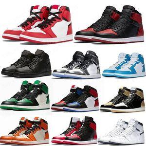 Pine Green Black 1S Basketball Chaussures Jumpman 1 Snefline Hommes Design Sneakers Sneakers Crésides Crésides Crélées Batteurs de Toile Black Toile Noir Top
