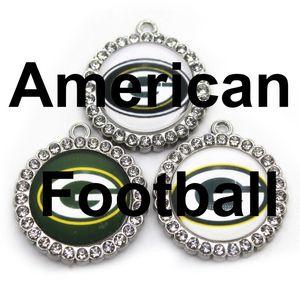 Etats-Unis de football des équipes de Green Bay Dangle Charms Jeux de bricolage Bracelet Collier pendentif Earring Charms Hanging Bijoux