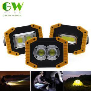 Lanterne portatili Led Spotlight Cob Cob Flood Lights USB ricaricabile Luce di lavoro Luce esterna per il campeggio di caccia