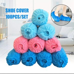 Disposable Shoe Cover Non Woven Boot Cover 100pcs pack Thicken Waterproof Dustproof Overshoes Rain Boot Overshoes Covers OOA7764