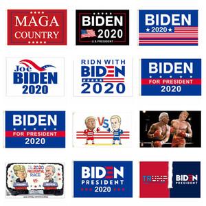 Trump Biden Cumhurbaşkanı Seçim Bayrakları Biden Başkan 2020 Bayraklar 3 * 5FT MAGA Ülke Trump Afişler Joe Biden Seçim Banner BH3933 TQQ