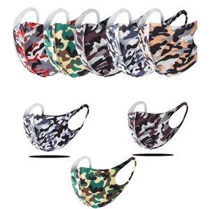 5 Farben Camouflage Masken Für Männer Frauen Staubdichtes Anti-Staub Anti-Smog atmungsaktiv Waschbar Outdoor Sports Radfahren Gesichtsmasken Unisex
