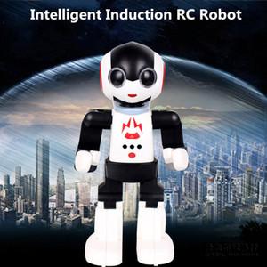 Freeshipping Nueva 2.4Ghz con control remoto inteligente robot humanoides inteligentes robot palma de inducción juguetes educativos juguetes caminar robot bailarín