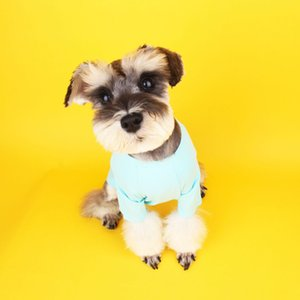 Classic Cartoon Printed Pets T-Shirt Summer Pure Cotton Thin Small Medium-sized Dogs Costume Super Breathable Soft Pets Cats Clothes