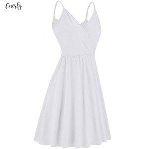 2020 New Plus Size Floral Print Women Vintage Midi Dress Sleeveless White Female Casual Female Swing Dresses