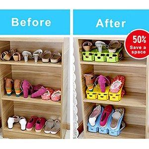 SOLEDI Plastic Practical Storage Holder Room Supplies Decoration Home Organization Fashion Shoes Organizer Space Saving