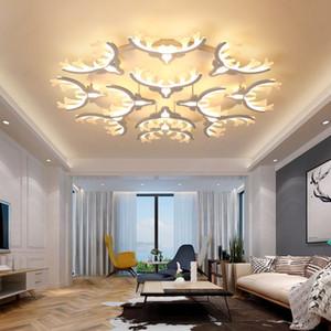 White Deer Head LED Ceiling Chandeliers Ceiling Lamps Antlers Lights Lighting For Living Room Bedroom Home Modern Lamp Fixture
