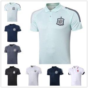 Polo Espagne 20 20 Argentine équipe de football français POLO 20 21 jogging soccer d'entraînement Jersey de haute qualité