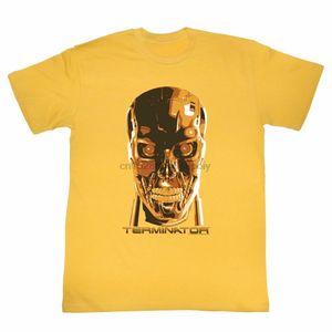 Terminator Creepy Face Имбирь для взрослых T-Shirt