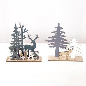 Elk Xmas Tree Pendants Hanging Wooden Christmas Ornaments Cute Design Home Garden Decorative Supplies Tool Party DIY Decor x8fI#