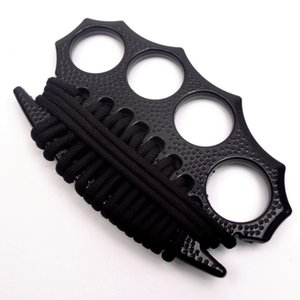 2020 New Protective Gear Rope Knit Knuckle dusters Metal alloy Brass knuckles Self Defense tool Personal Security equipment Iron fists