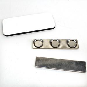 MDF Sublimation Blank Abzeichen mit Magnet-Namensschild für Arbeit DIY Personalisierte Namen-Karten-Abzeichen 39x76mm Sublimation Blanks Blank-Material