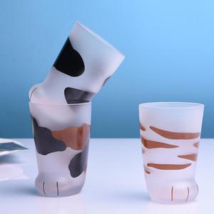 350ml-Becher hitzebeständiges Glas Katze Cup Tiger Paws Büro Matte Katzen-Tatzen Kreative Milch-Kaffeetasse Nette Kinder Getränkeflasche