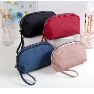 PU Bag Women Cosmetic Bag Large Capacity Beauty Cosmetic Make Up Zipper Makeup Brushes Girl Lace 2020 New Dropshipping