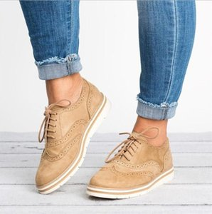 2020 New EVA Brogue Shoes Woman Platform Oxfords British Style Creepers Cut-Outs Flat Casual Women Shoes 5 Colors