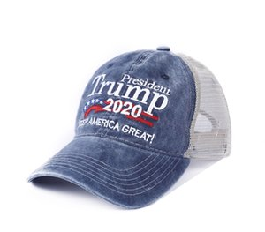 4 types Donald Trump Baseball Cap Patchwork washed outdoor Make America Great Again hat Republican President Wash mesh hat sports cap LJJ423