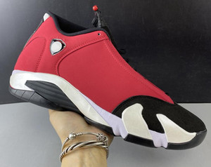 2020 New arrival High top 14s Gym Red white black red high quality leather shoe Racing Shoes size 40-47