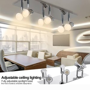 Las luces de pista cubierta simple LED Multi-cabeza Spotlight moderna pista de luz lámpara de pared Foco Foco LED Proyector