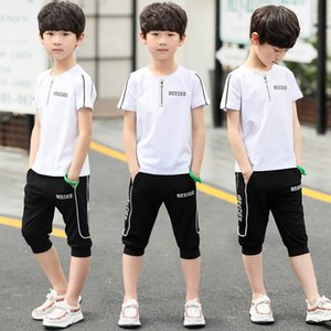 2020 novas roupas infantis infantil de EoDTx Boyssummer crianças ocasional médio e crianças grandes Boysshort terno de mangas belo-coreano f
