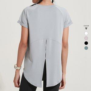 Loose Women Yoga T-shirts Respirant Quick Dry Sport Chemises Femme Gym Vêtements Fitness Workout sport Courir Top Shrit T895