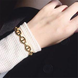 ins Wind pig nose chain open bracelet adjustable bracelet metal texture Korean style simple personality tide