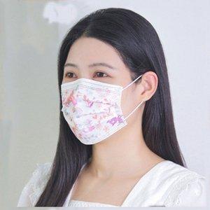 Drand Moda Diseñador Anti-polvo Cara de Algodón Floral Multicolor Mascarilla protectora Unisex Dispositivo Mascarilla Dispositivo Hombre Mujer PBT Melt-soplado