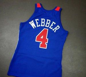 Özel Erkekler Gençlik kadınlar Chris Webber 96 97 Basketbol Jersey Boyut S-6XL veya özel herhangi bir ad veya numara forması